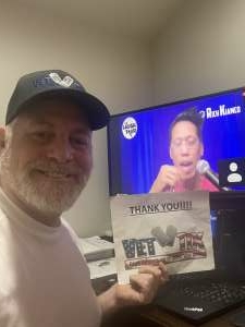 David attended The Laugh Tour: Virtual Stand Up Comedy Via Zoom on Jan 16th 2021 via VetTix