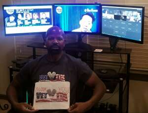 C.T. Green attended The Laugh Tour: Virtual Stand Up Comedy Via Zoom on Jan 23rd 2021 via VetTix
