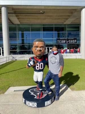 Abe attended Houston Texans vs. Tennessee Titans - NFL on Jan 3rd 2021 via VetTix