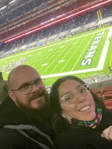 Monica  attended Houston Texans vs. Tennessee Titans - NFL on Jan 3rd 2021 via VetTix