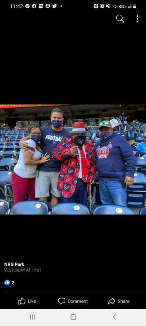 Daniel Macias  attended Houston Texans vs. Tennessee Titans - NFL on Jan 3rd 2021 via VetTix