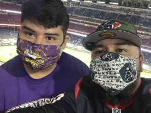 Mark main attended Houston Texans vs. Tennessee Titans - NFL on Jan 3rd 2021 via VetTix