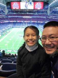 Richard Chen attended Houston Texans vs. Tennessee Titans - NFL on Jan 3rd 2021 via VetTix