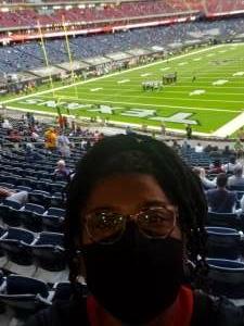 E attended Houston Texans vs. Tennessee Titans - NFL on Jan 3rd 2021 via VetTix