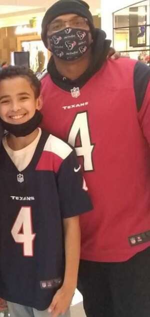Elridge  attended Houston Texans vs. Tennessee Titans - NFL on Jan 3rd 2021 via VetTix