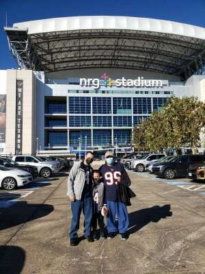 Richard Cordova  attended Houston Texans vs. Tennessee Titans - NFL on Jan 3rd 2021 via VetTix