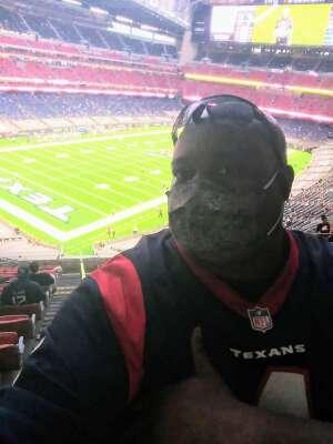 Orlando attended Houston Texans vs. Tennessee Titans - NFL on Jan 3rd 2021 via VetTix