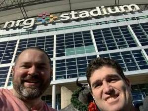 Brandon Thurman attended Houston Texans vs. Tennessee Titans - NFL on Jan 3rd 2021 via VetTix