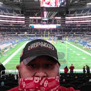 Lndn05  attended Goodyear Cotton Bowl Classic - Florida vs. Oklahoma - NCAA Football on Dec 30th 2020 via VetTix
