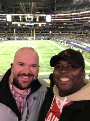 KQUASH attended Goodyear Cotton Bowl Classic - Florida vs. Oklahoma - NCAA Football on Dec 30th 2020 via VetTix
