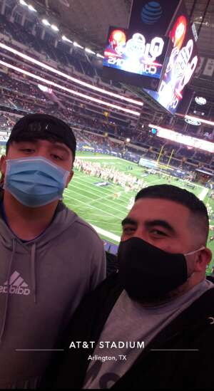 Luis attended Goodyear Cotton Bowl Classic - Florida vs. Oklahoma - NCAA Football on Dec 30th 2020 via VetTix