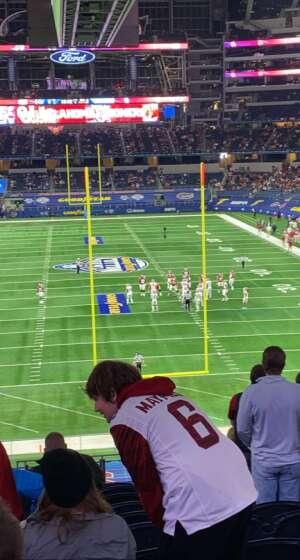 SGT Spriggs  attended Goodyear Cotton Bowl Classic - Florida vs. Oklahoma - NCAA Football on Dec 30th 2020 via VetTix