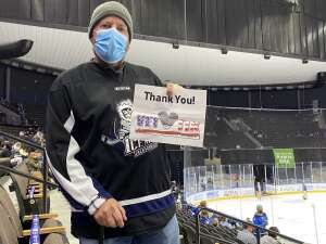 Curtis attended Jacksonville Icemen vs. Orlando Solar Bears - ECHL on Jan 9th 2021 via VetTix
