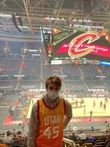 Thomas Donehue attended Cleveland Cavaliers vs. Utah Jazz - NBA on Jan 12th 2021 via VetTix