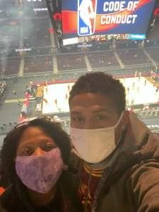 Crystal Cockerell attended Cleveland Cavaliers vs. Utah Jazz - NBA on Jan 12th 2021 via VetTix