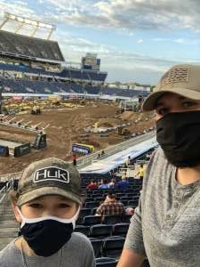Ray Maillo attended Monster Energy Supercross on Feb 13th 2021 via VetTix