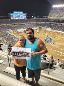Ryan  attended Monster Energy Supercross on Feb 13th 2021 via VetTix