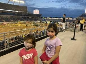 Mike attended Monster Energy Supercross on Feb 13th 2021 via VetTix