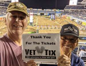 Dave attended Monster Energy Supercross on Feb 13th 2021 via VetTix