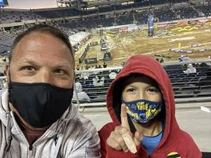 Cory attended Monster Energy Supercross on Feb 20th 2021 via VetTix