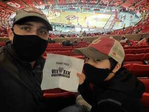 Adam attended University of Oklahoma vs. Iowa State - NCAA - Men's Basketball on Feb 6th 2021 via VetTix