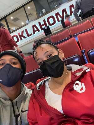 Terence Miller attended University of Oklahoma vs. Iowa State - NCAA - Men's Basketball on Feb 6th 2021 via VetTix