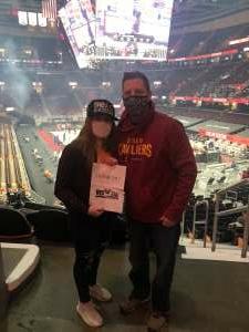 Scott Sebastian attended Cleveland Cavaliers vs. Detroit Pistons - NBA on Jan 27th 2021 via VetTix