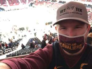 Alex P attended Cleveland Cavaliers vs. Detroit Pistons - NBA on Jan 27th 2021 via VetTix