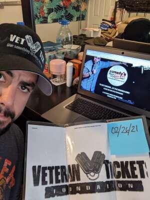 Ed attended Comedy's Best Kept Secret Tour 2021 - Virtual Comedy Show on Feb 26th 2021 via VetTix