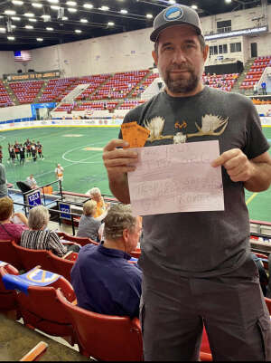 Ed attended Florida Tropics vs. Ontario Fury - Major Arena Soccer League on Feb 21st 2021 via VetTix