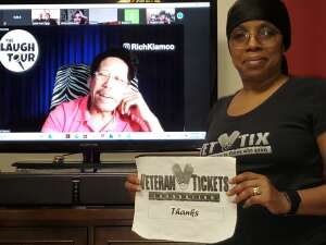 Q. attended The Laugh Tour: Virtual Stand Up Comedy Via Zoom on Feb 27th 2021 via VetTix