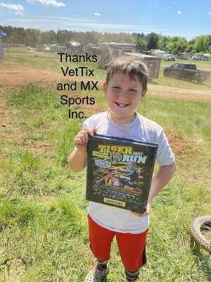 Eli  attended Tiger Run GNCC Racing on Apr 17th 2021 via VetTix