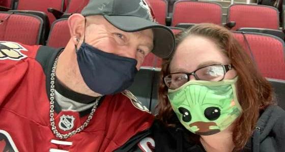 Nikki & Fred attended Arizona Coyotes vs. Los Angeles Kings on Feb 18th 2021 via VetTix