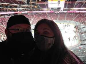 Adam Gadberry attended Arizona Coyotes vs. Anaheim Ducks on Feb 22nd 2021 via VetTix