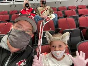 Al Muir  attended Arizona Coyotes vs. Anaheim Ducks on Feb 22nd 2021 via VetTix