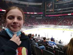 Johnson attended Arizona Coyotes vs. Anaheim Ducks on Feb 22nd 2021 via VetTix
