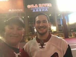 Jeff attended Arizona Coyotes vs. Anaheim Ducks on Feb 22nd 2021 via VetTix