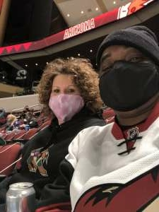 Van attended Arizona Coyotes vs. Anaheim Ducks on Feb 22nd 2021 via VetTix