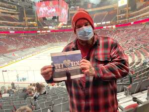 Doodle attended Arizona Coyotes vs. Anaheim Ducks on Feb 24th 2021 via VetTix