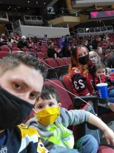 The Bullocks attended Arizona Coyotes vs. Anaheim Ducks on Feb 24th 2021 via VetTix