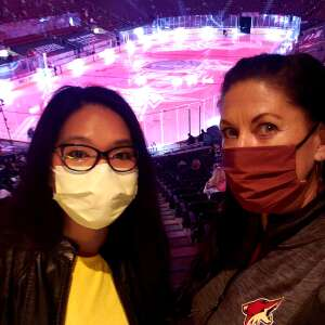 Sharon M attended Arizona Coyotes vs. Anaheim Ducks on Feb 24th 2021 via VetTix