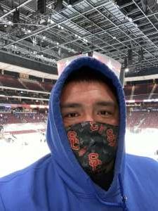 Eugene attended Arizona Coyotes vs. Anaheim Ducks on Feb 24th 2021 via VetTix