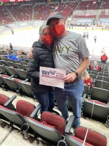 Tom from Submarines attended Arizona Coyotes vs. Anaheim Ducks on Feb 24th 2021 via VetTix