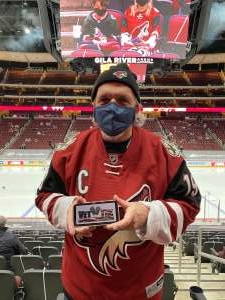 Jack attended Arizona Coyotes vs. Anaheim Ducks on Feb 24th 2021 via VetTix