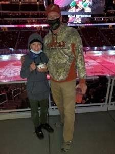 Sean attended Arizona Coyotes vs. Anaheim Ducks on Feb 24th 2021 via VetTix
