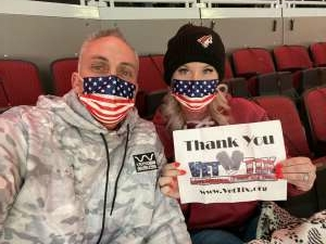 April  attended Arizona Coyotes vs. Anaheim Ducks on Feb 24th 2021 via VetTix