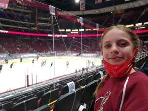 Johnson attended Arizona Coyotes vs. Anaheim Ducks on Feb 24th 2021 via VetTix