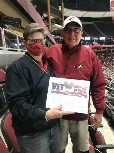 Ken Abbey attended Arizona Coyotes vs. Anaheim Ducks on Feb 24th 2021 via VetTix