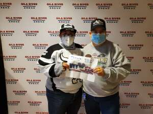Denise  attended Arizona Coyotes vs. Anaheim Ducks on Feb 24th 2021 via VetTix