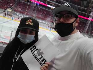 On the level attended Arizona Coyotes vs. Anaheim Ducks on Feb 24th 2021 via VetTix